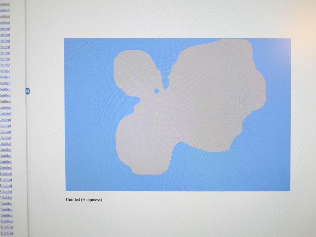 Claude Closky, 'Untitled drawings,' 2013, interactive website, Php, Javascript, Processing (http://w.closky.info/portfolio), 21 819 drawings.